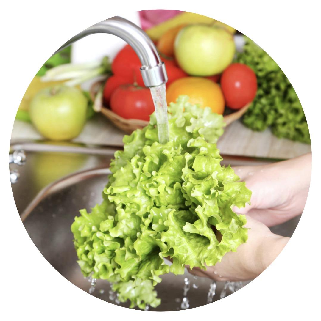 ضدعفونی سبزیجات و مواد خوراکی