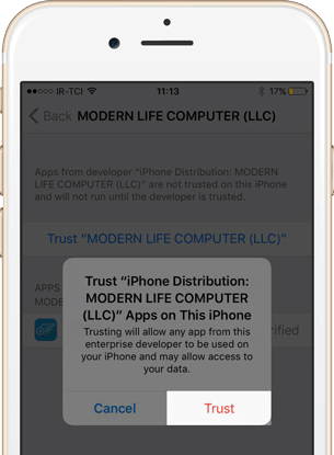 confirm trust modern life computer